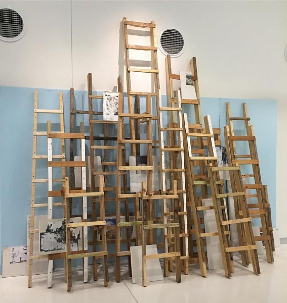 In Situ: Ladders, Diane Endres Ballweg Gallery, Madison, WI, 2016-2017