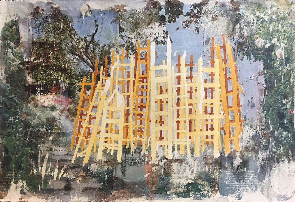 Untitled (Yellow Ladders), 2018