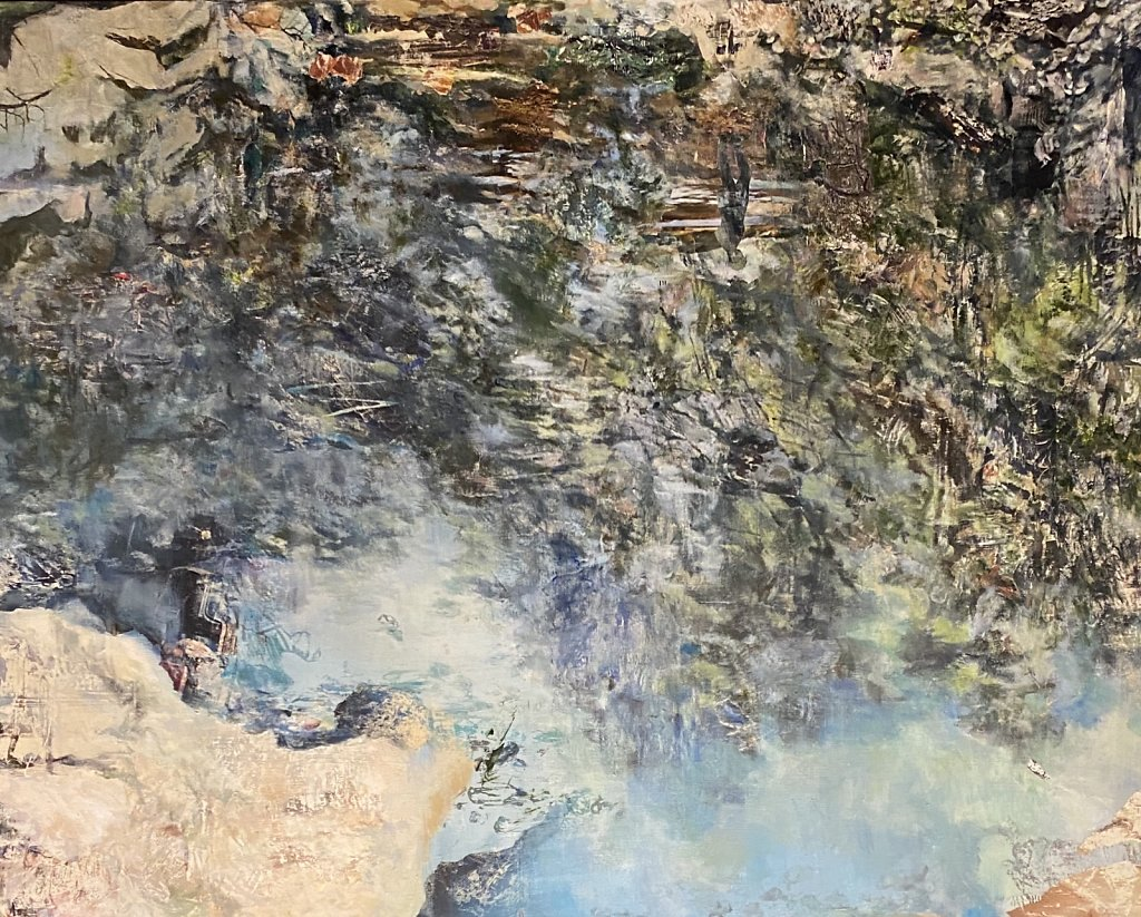 Mountain Mirror, panel two of two (diptych), 2019