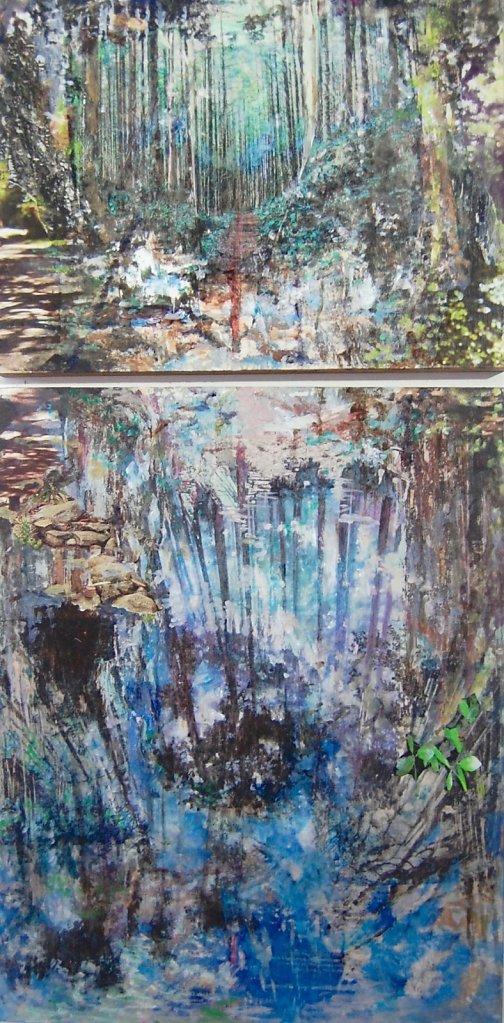Mirror (woods), 2019 diptych