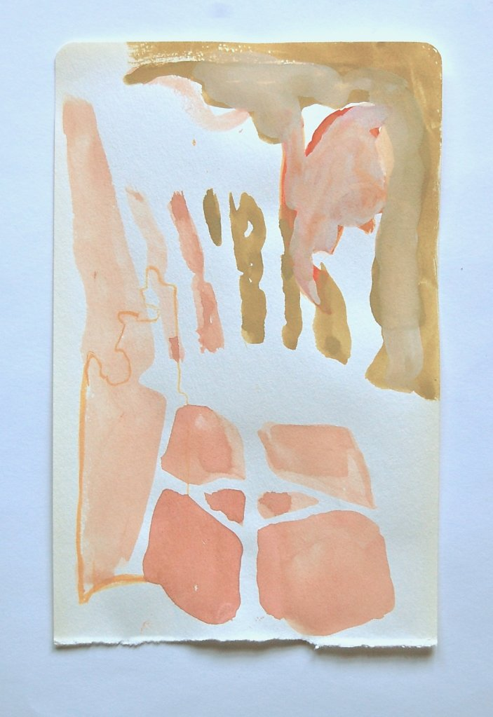 """Untitled, 2012, gouache on paper, 8"""" x 6"""""""