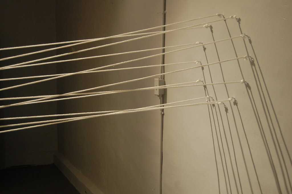 Collaboration with Angela Burkes, Site Specific installation at Twist Gallery, 2013