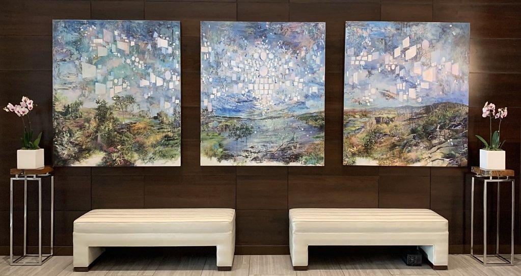 The Familiar Unknown, 2018 in situ at Viridian Condos, Nashville, TN